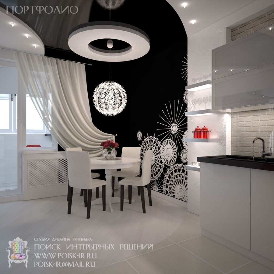 Дизайн потолков: Современная квартира с яркими акцентами