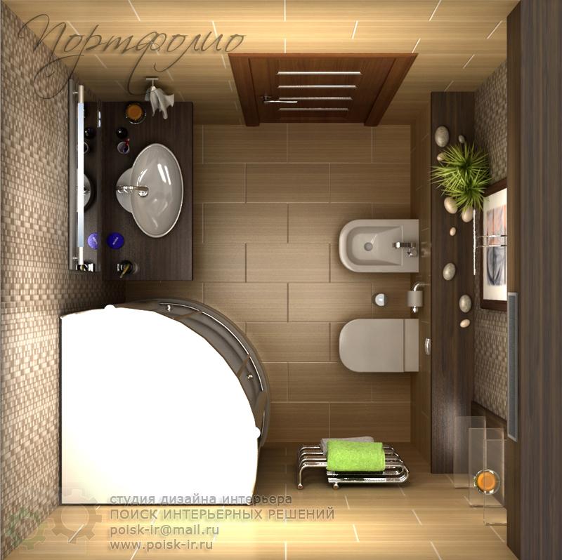 Дизайн ванной комнаты 3х3 м