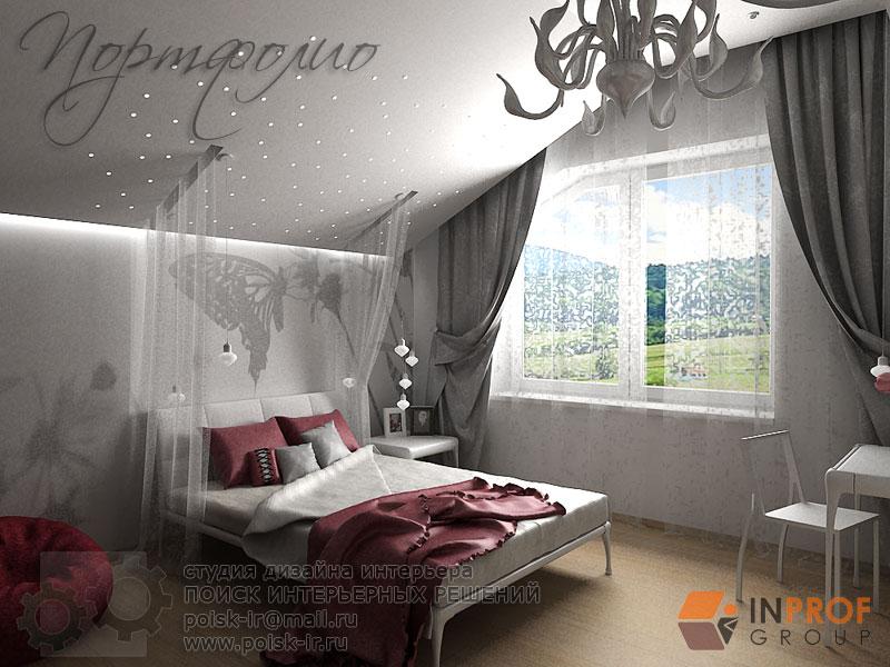 С балдахином - дизайн интерьера детских комнат фото.
