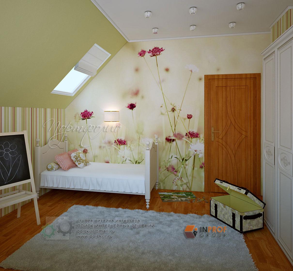 детская комната со скошенным потолком интерьер как выучить