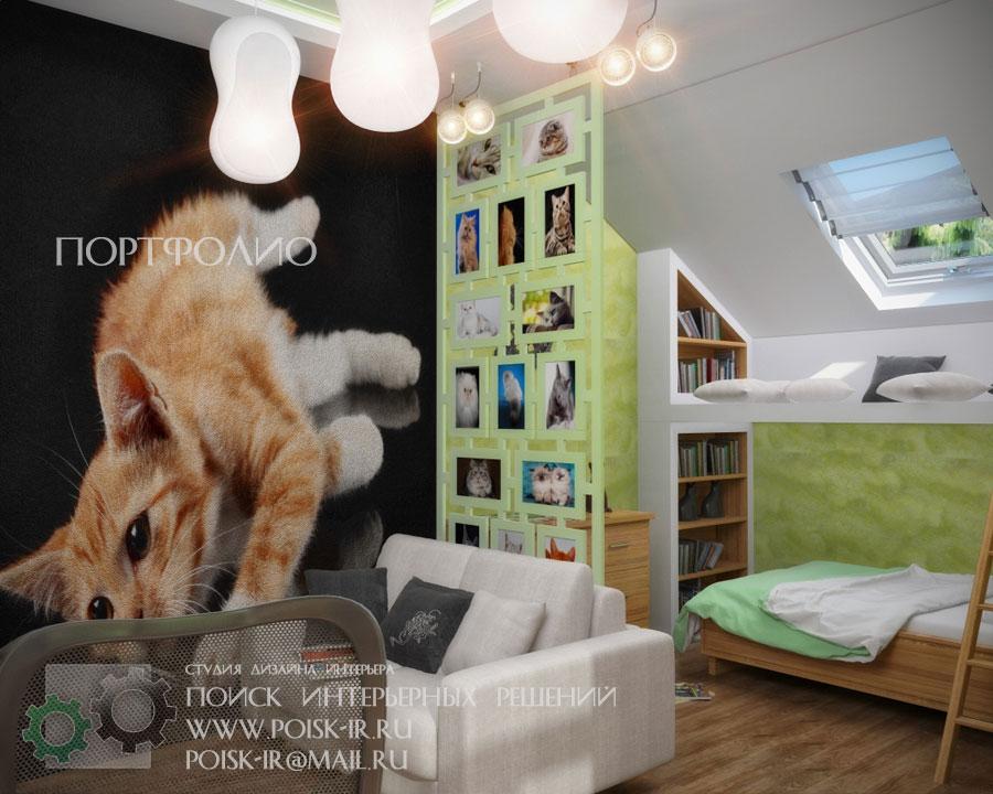 Интерьер комнаты кошки