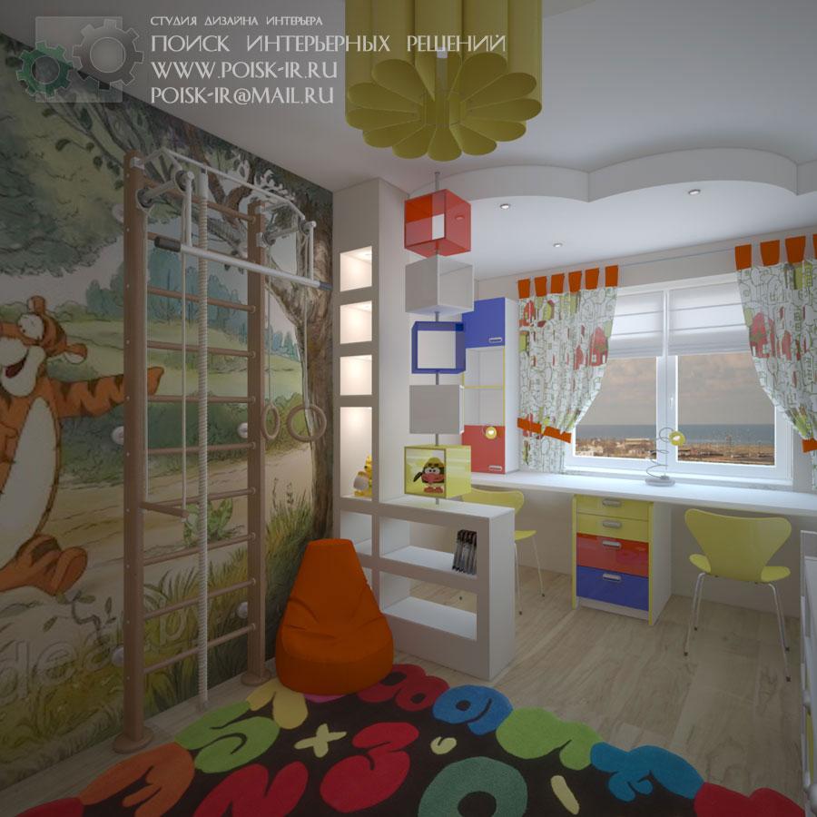 Дизайн оформления стен фотообоями