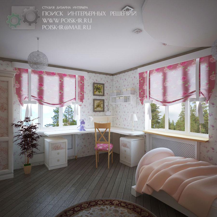 Как обставить угловую комнату с окном