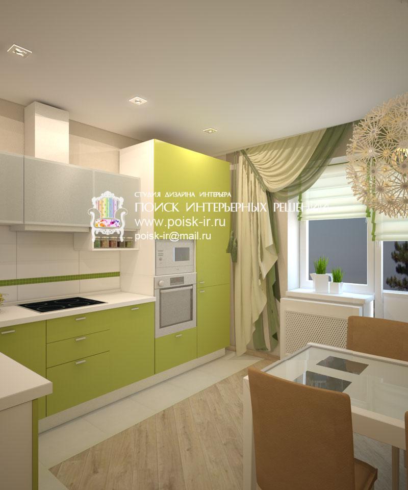 Экостиль - дизайн интерьера кухни фото.