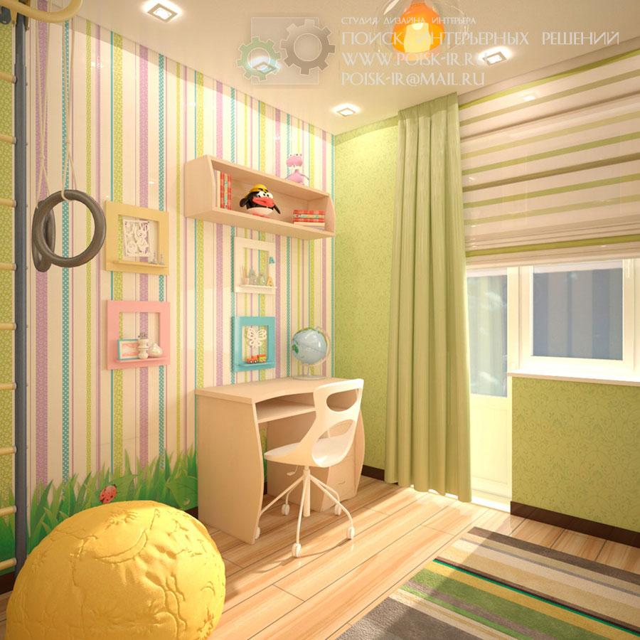 как увеличить детскую комнату с помощью обоев фото: http://diswear.ru/page/kak_uvelichit_detskuu_komnatu_s_pomoshu_oboev_foto/