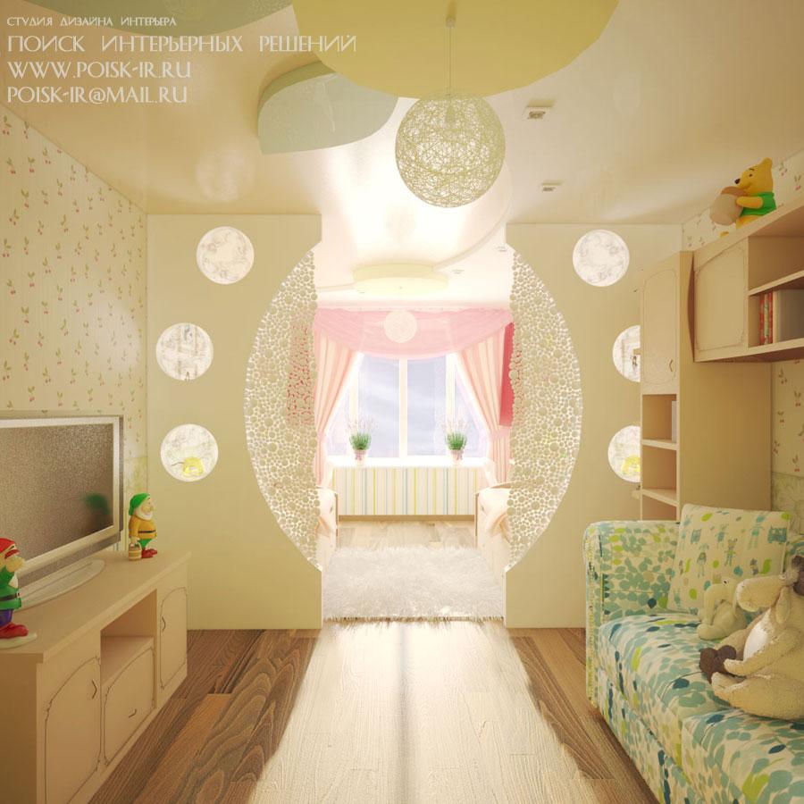 Дизайн детской для девочек в хрущевке фото