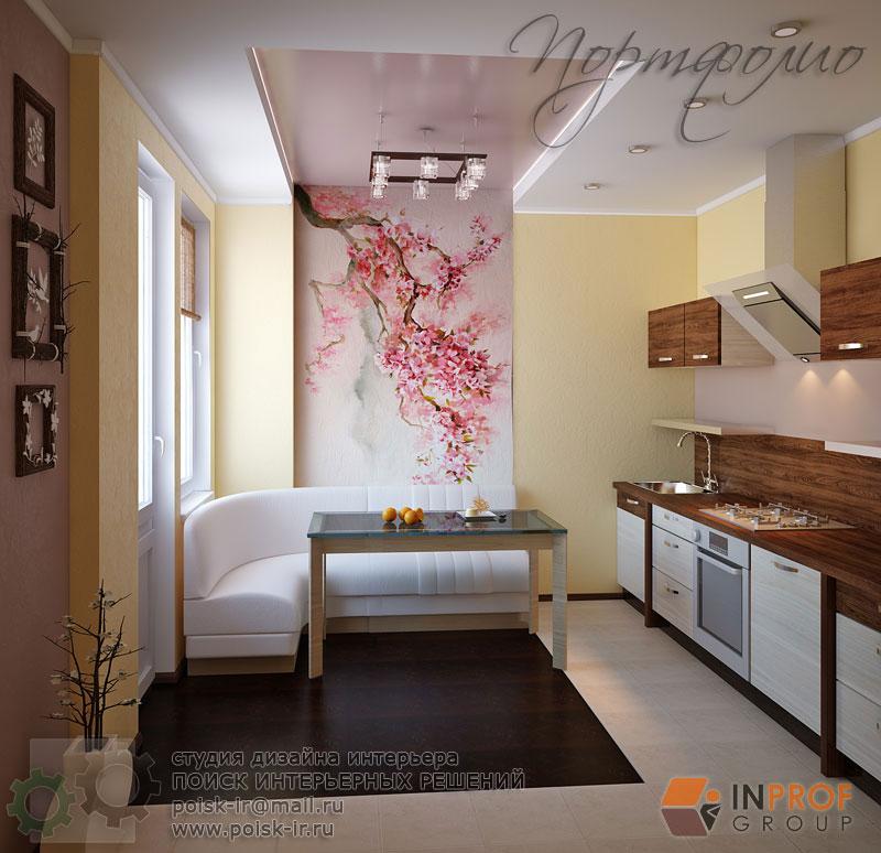 Сакура в интерьере кухни