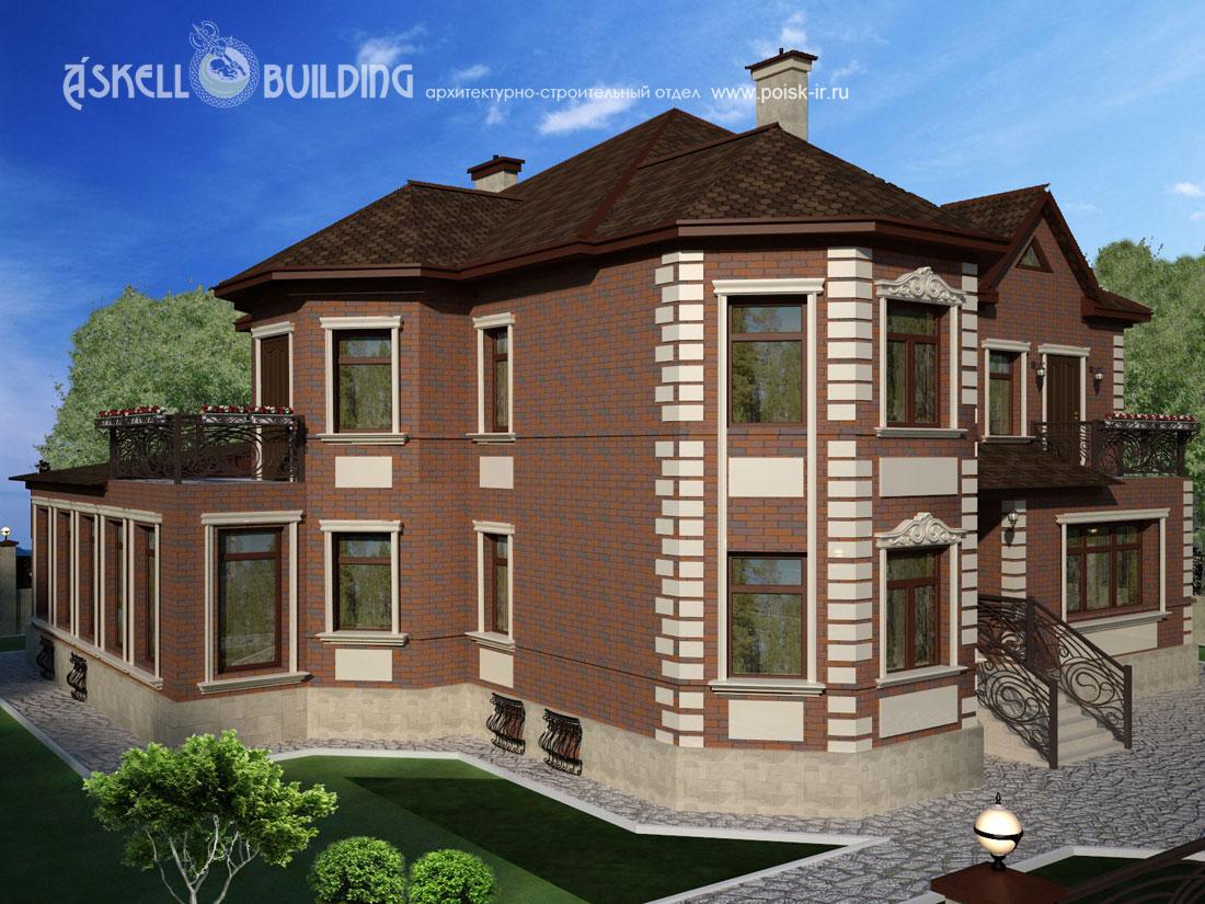 Чаще всего кирпичные фасады относятся к проектам