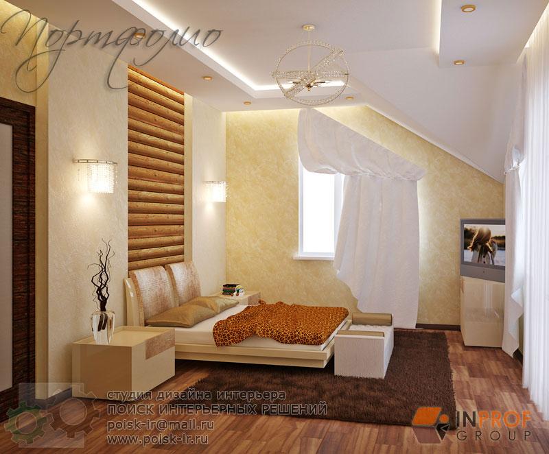 Дизайн спальни блок хаус