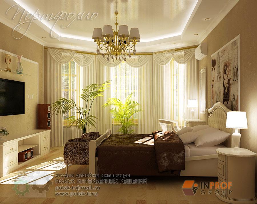 Интерьер зала с эркером дизайн