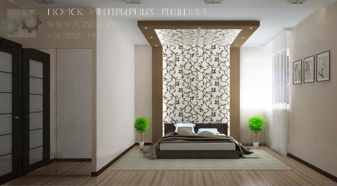 Дизайн короба в спальне