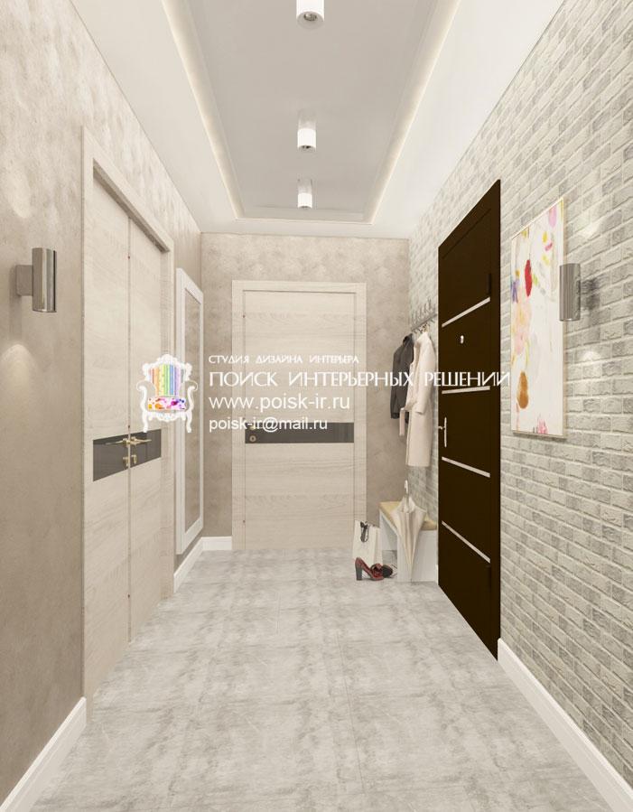 Фото интерьера коридора в светлых тонах