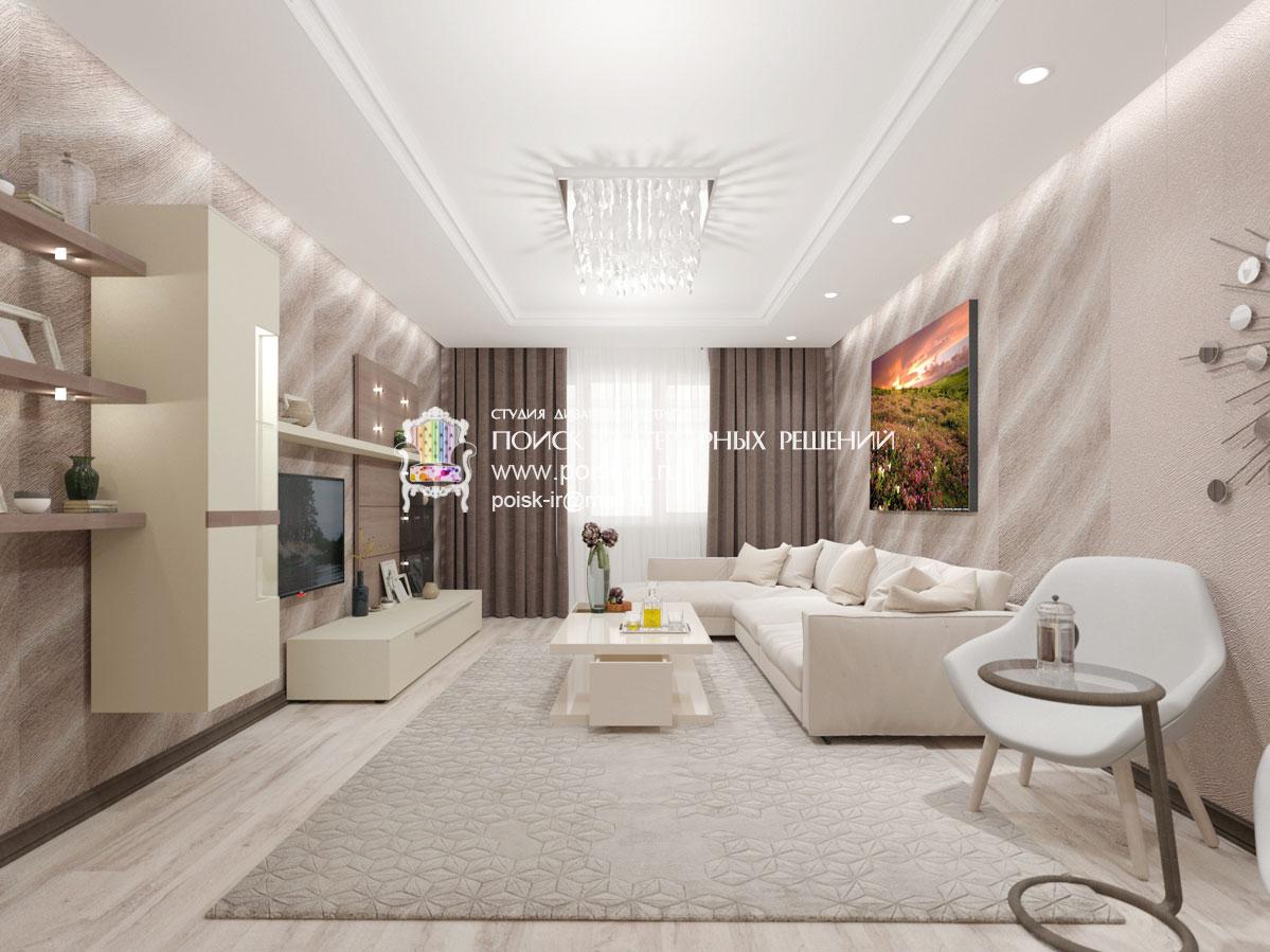 Фото дизайна квартир со светлым полом