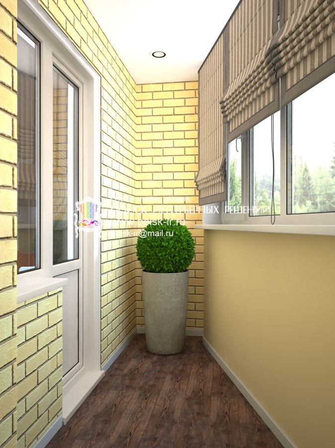 Минимализм - дизайн балкона и лоджии фото.