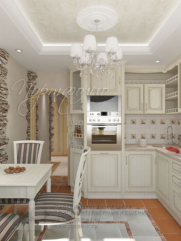 Дизайн кухни на 9 метров классика