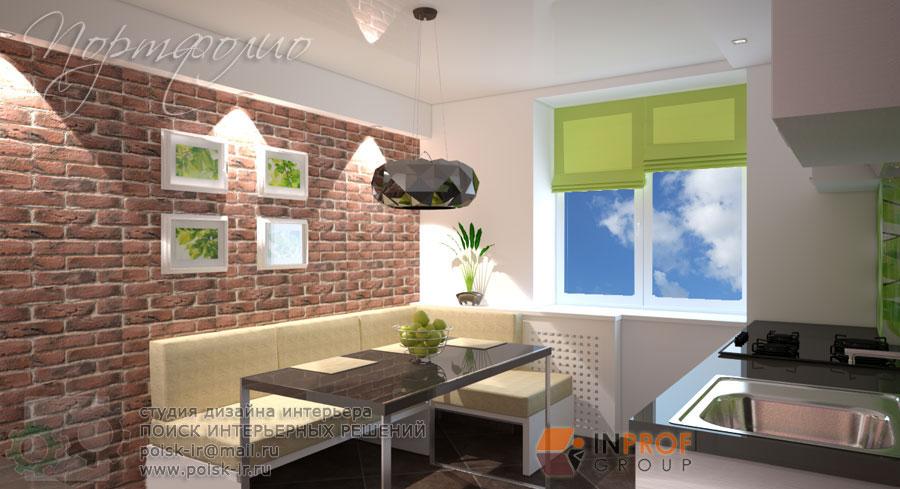 Дизайн кухня с угловым диваном