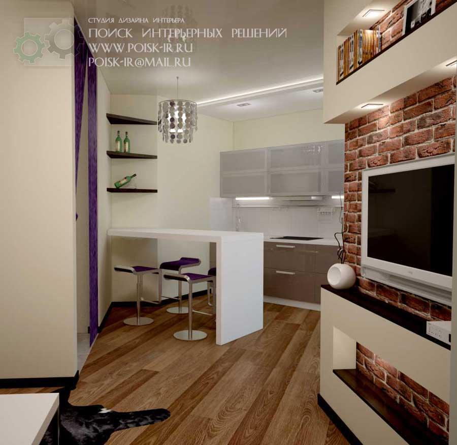Дизайн нестандартной планировки кухонь