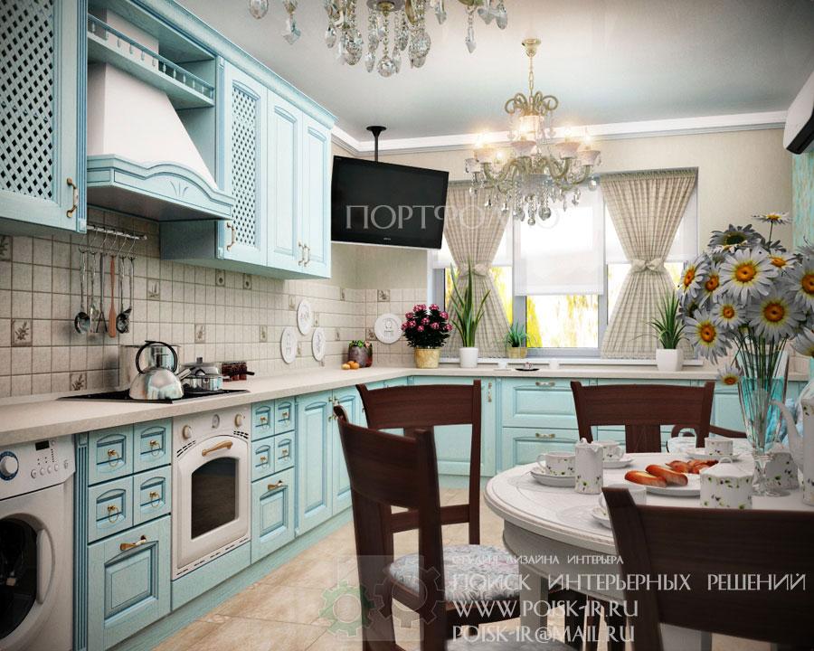 Дизайн классической на кухни с телевизором фото