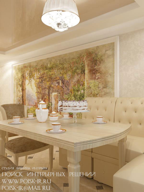 интерьере кухни в стиле Классика фото