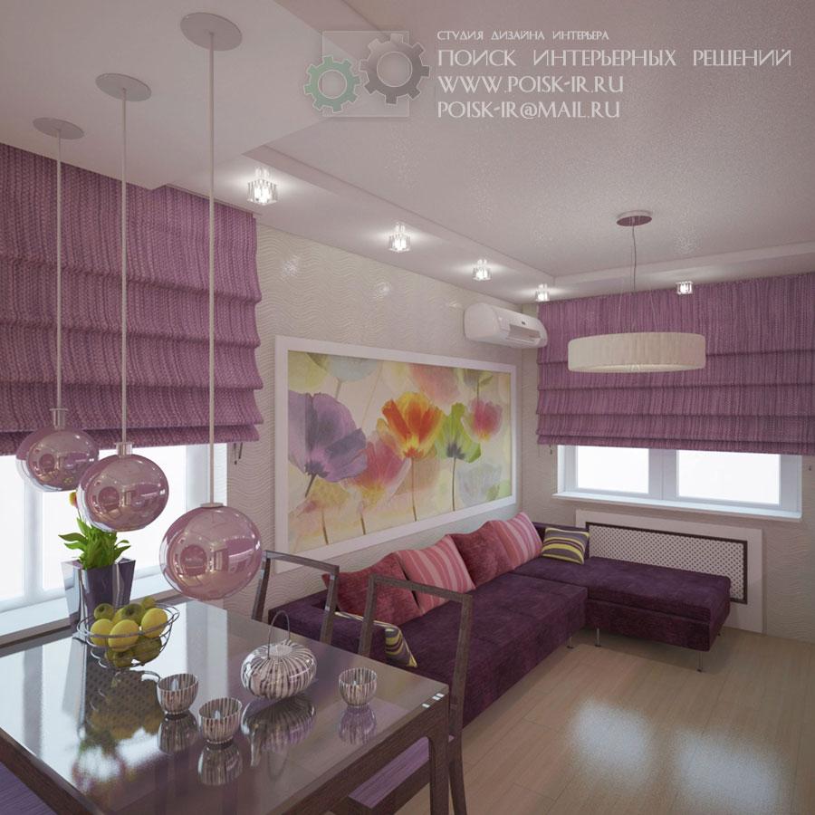Дизайн кухни с двумя окнами на разных стенах