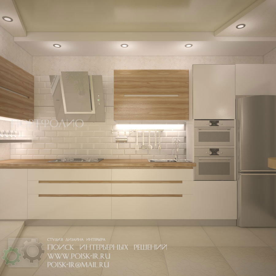 Фото дизайна кухни с желтой плиткой 38