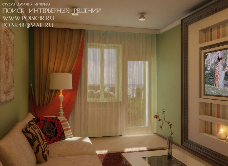 Квартиры - дизайн интерьера гостиной - стр. 7 (седьмая).