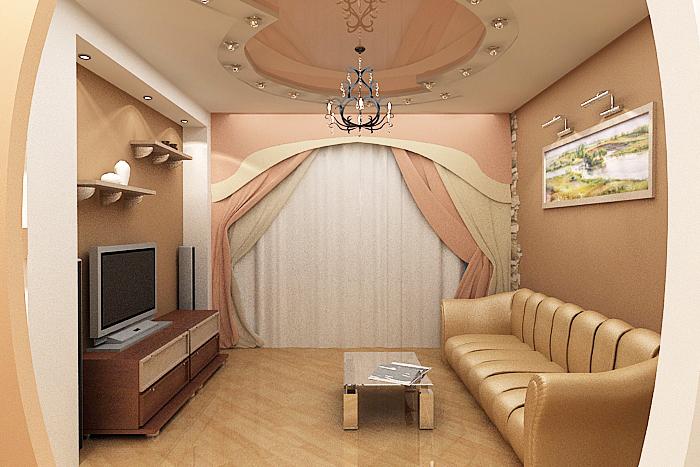 Зал в маленькой квартире фото