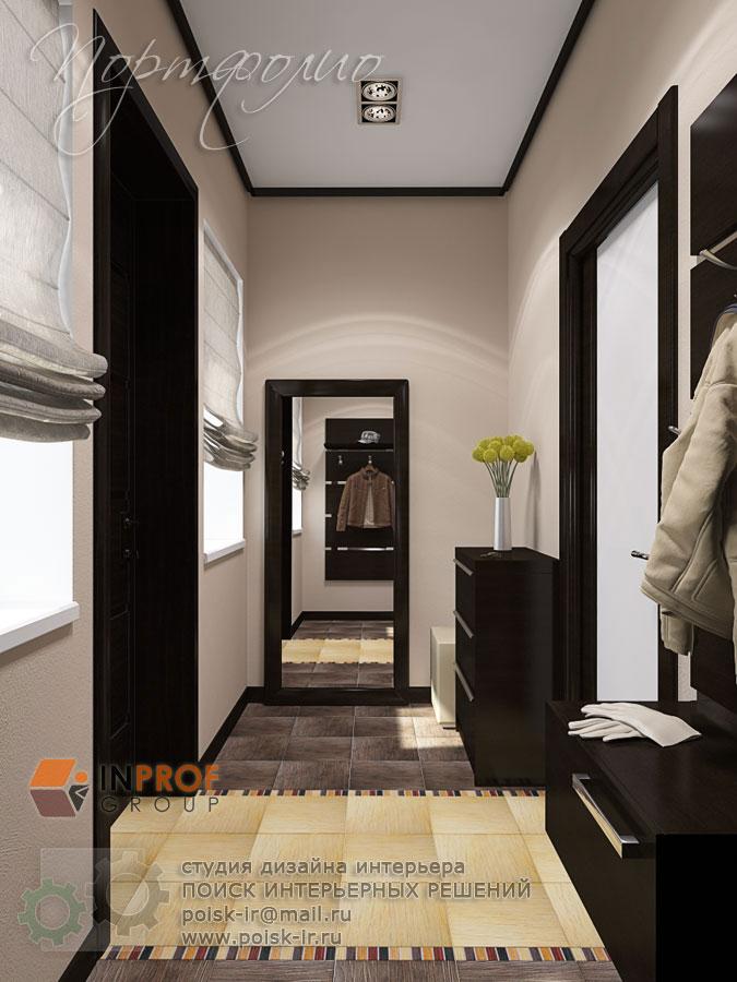 Фото дизайна зала в квартире с 2 окнами