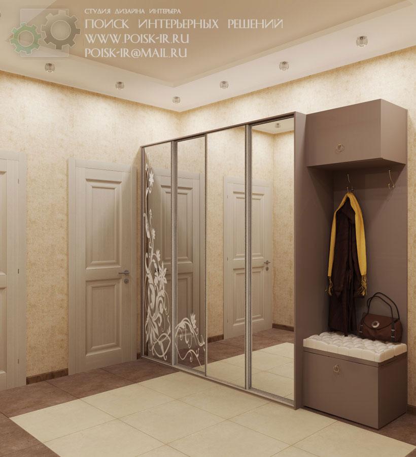 Со шкафом-купе - дизайн интерьера холлов и коридоров - стр. .