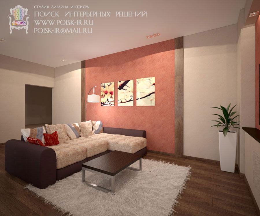 Декоративный камень дизайн гостиной