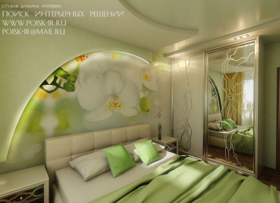Дизайн фотообоев для спальни в интерьере фото 12