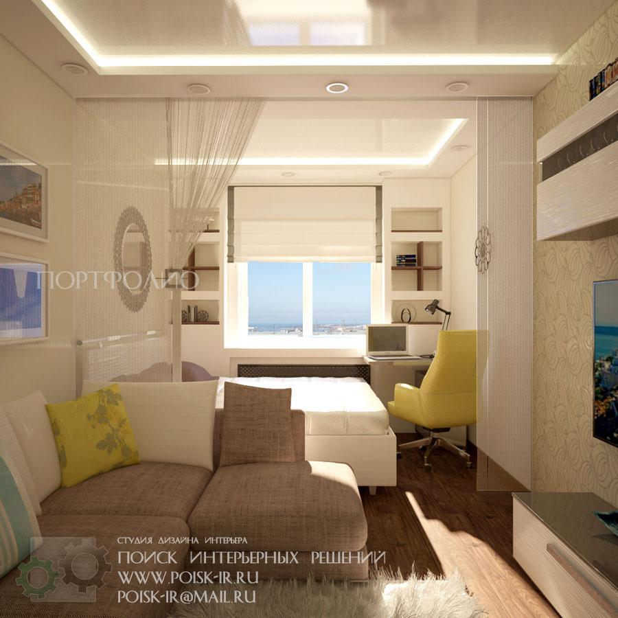 Поиск интерьер гостиной спальни