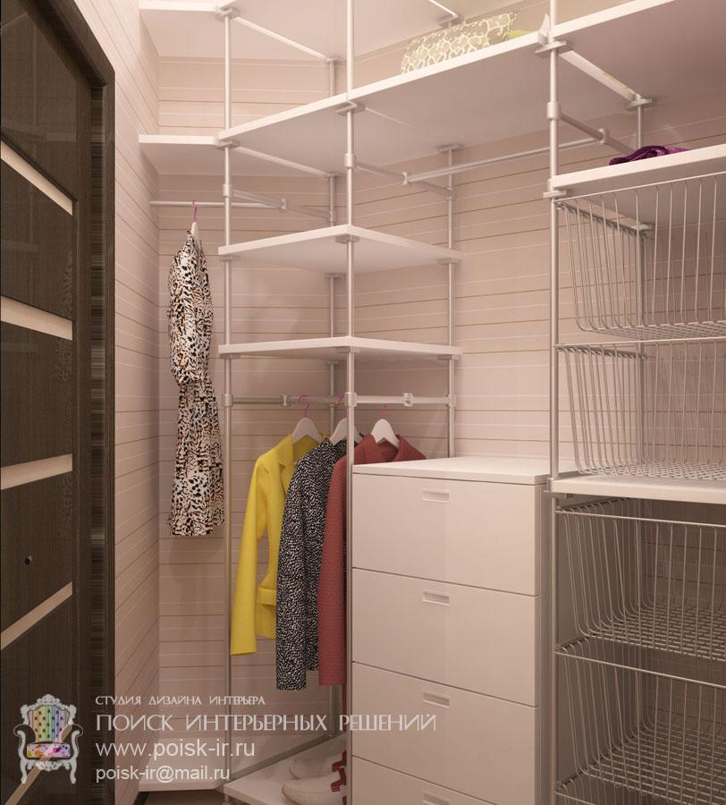Маленькие - дизайн гардеробных в квартирах и домах фото.