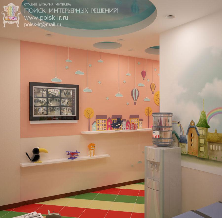 Дизайн детской раздевалки