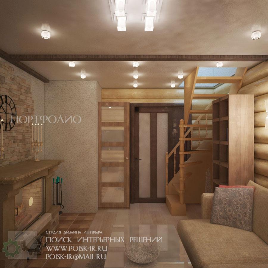 Дизайн комнаты отдыха бани 89
