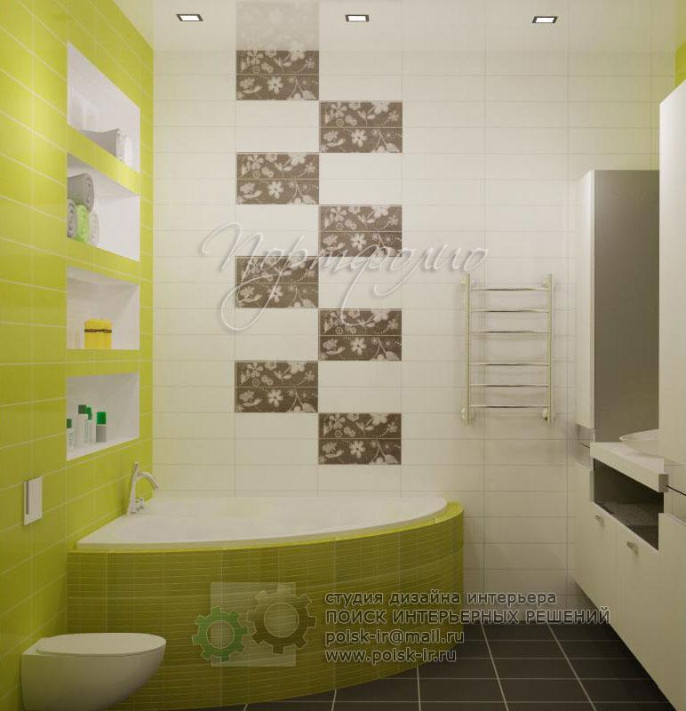 Дизайн декор плитка в ванной