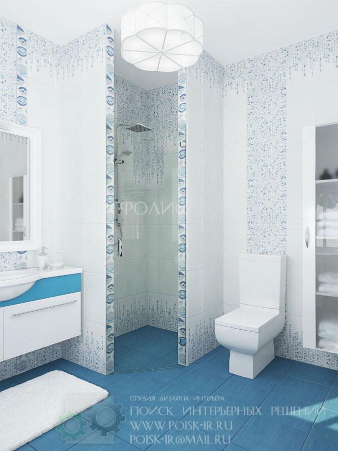Дизайн ванной комнаты из плитки керама марацци