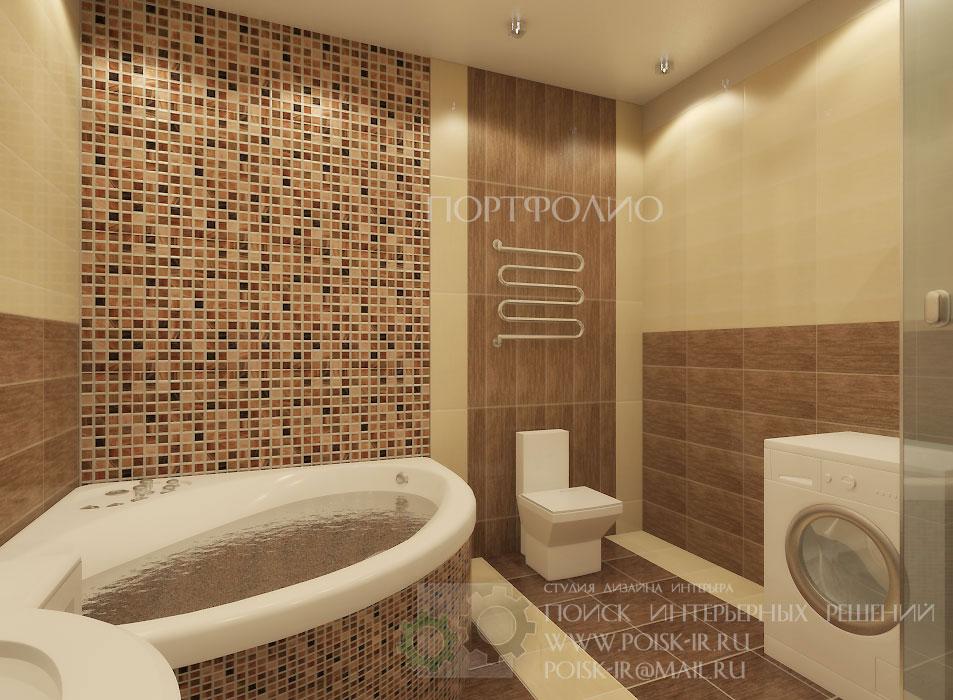 Ванные комнаты дизайн маленькие с мозаикой