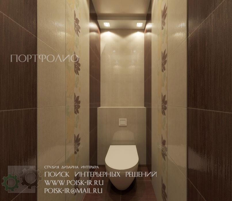 Плитка в туалете дизайн коричневая