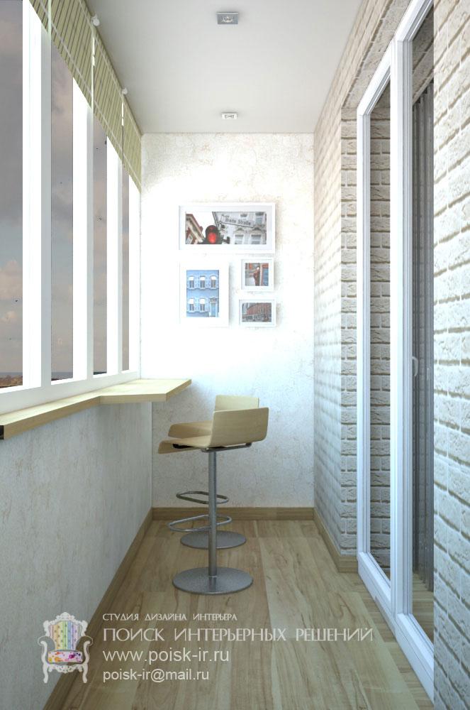 С барной стойкой - дизайн балкона и лоджии фото.