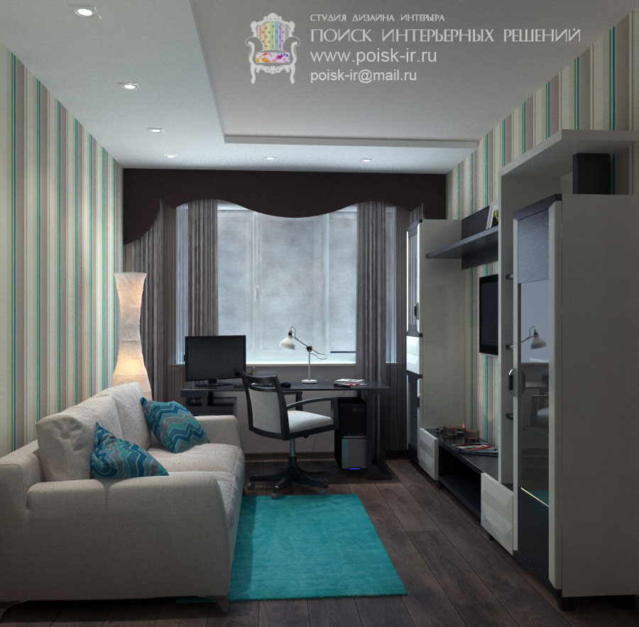 Тёмный пол - дизайн интерьера гостиной эскизы - стр. 3 (трет.