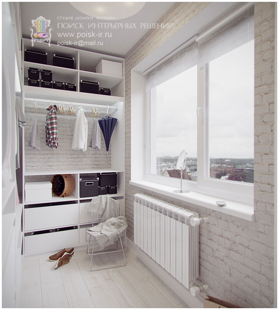 Лоджии дизайн со шкафами фото..