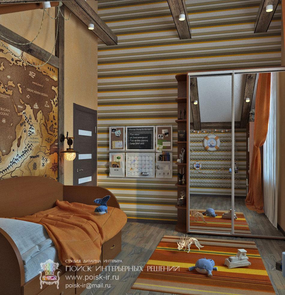 Интерьеры комнат с балками на потолке