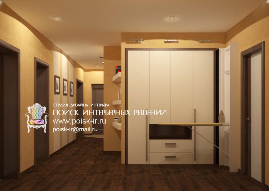 Со шкафом-купе - дизайн интерьера холлов и коридоров проекты.
