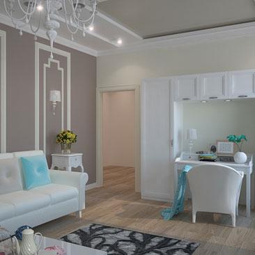 Интерьер и дизайн гостиной - фото, портфолио, картинки.