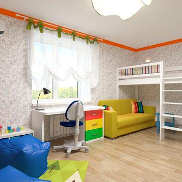 Дизайнерские детские комнаты фотогалерея