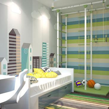 Дизайн детской комнаты для мальчика - фото-идеи