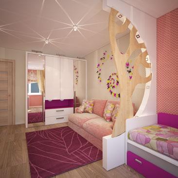 Бабочки в оформлении комнаты для девочки фото