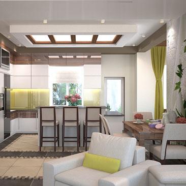 Дизайн интерьера кухонь и кухонных гарнитуров