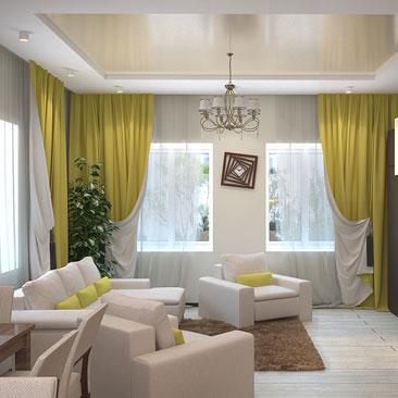 Дизайн интерьера кухонь-гостиных.